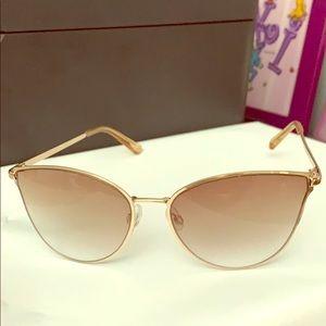 Cute cateye rose gold sunglasses forever21